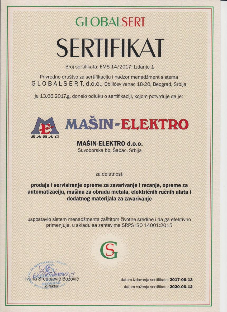 ISO 14001 Sertifikat